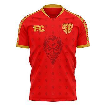 Independiente 2020-2021 Home Concept Football Kit (Fans Cultuur)