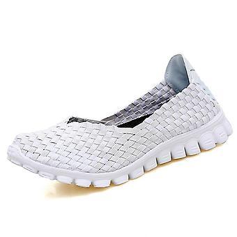 Mujeres Verano Casual Flats Zapatos para Caminar Femenino Transpirable