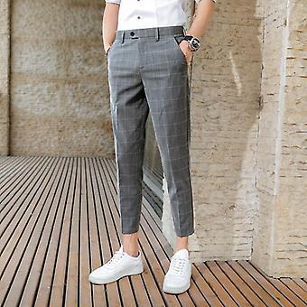 Pantaloni costum de vară de afaceri de afaceri casual nouă puncte pantaloni costum