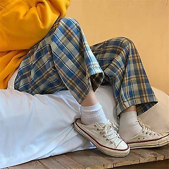 Ekose Desenli, Geniş Bacaklı Rahat Elastik Bel Pijamaları