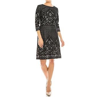 Lace On Heather Print Sheath Dress