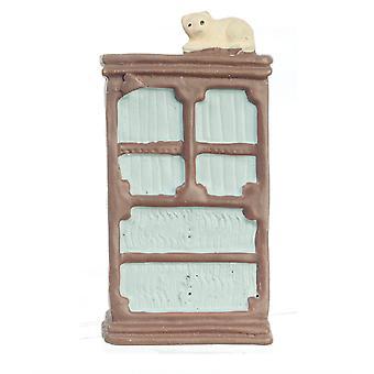 Dolls House Armoire Kast 1:48 Schaal 1/4 Inch Mini Slaapkamermeubilair