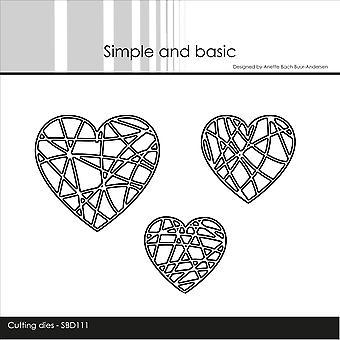 Enkel och grundläggande String Hearts Dies