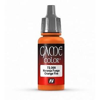 Vallejo Game Color 17ml Acrylic Paint 8 Orange fire