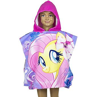 My little pony girls hooded poncho towel mlp4033pon