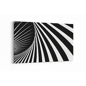 Malerei - abstrakte Kunst, schwarz und weiß - 100x70cm