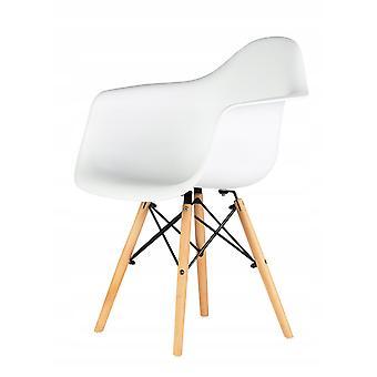 Küchenstuhl - Stuhlset - 4 Stühle - Hochsitz - weiß