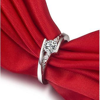 Δαχτυλίδια διαμαντιών εργαστηρίων, κομψό νυφικό κόσμημα συμβαλλόμενων μερών, ασημένιο γαμήλιο δαχτυλίδι αρραβώνων