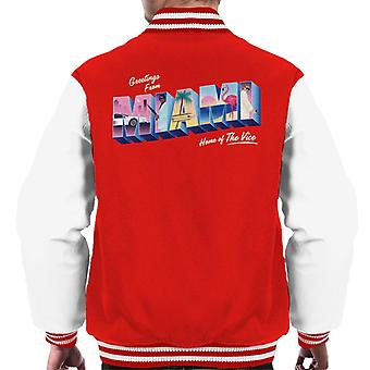 Miami Vice Greetings From Miami Home Of The Vice Men's Varsity Jacket