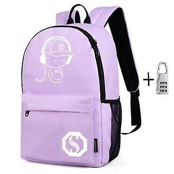 Luminous Fashion Student Animation School Bag