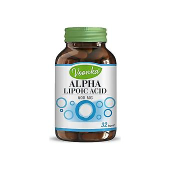 Voonka Alpha Lipoic Acid 600 Mg 32 Capsules Active Ingredient: Alpha Lipoic