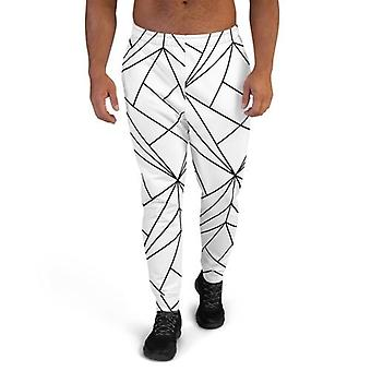 Men's Premium White Geometry Joggers