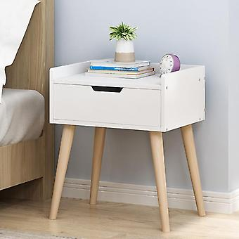 Nordic Bedside Table, Solid Wood Small Cabinet Simple Storage, Cabinet Economy