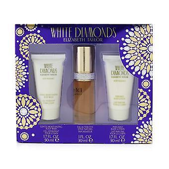 Elizabeth Taylor White Diamonds Coffret: Eau De Toilette Spray 30ml/1.0oz + Body Lotion 50ml/1.7oz + Body Wash 50ml/1.7oz 3pcs