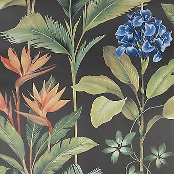Oliana Charcoal Belgravia Wallpaper