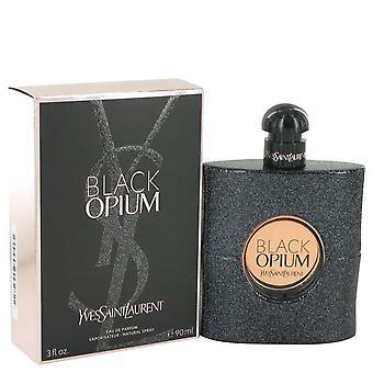 Black Opium Eau De Parfum Spray przez Yves Saint Laurent 3 uncji Eau De Parfum Spray