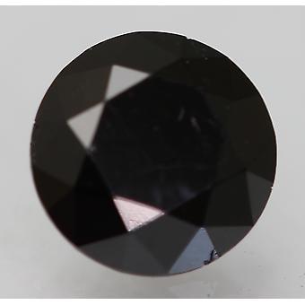 Cert 0.57 Karat Fancy Musta Pyöreä Brilliant Parannettu Luonnollinen Timantti 5.21mm 3VG