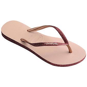 Havaianas Slim Sparkle II Flip Flops Pink 19