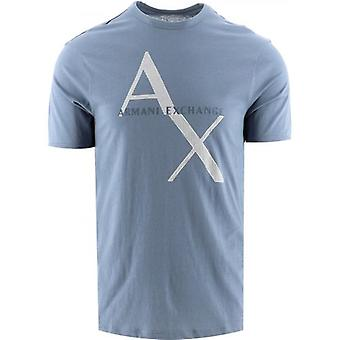 Armani Exchange Blue Logo T-Shirt