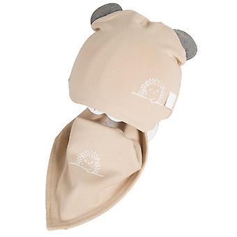 Newborn Baby Hat For Cotton Baby Cap Scarf Set