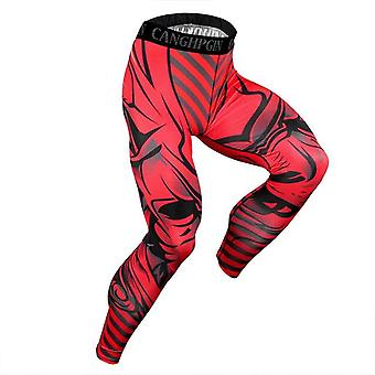 Men's Compression Sportswear Training Leggings Bodybuilding Gym Skinny Trousers