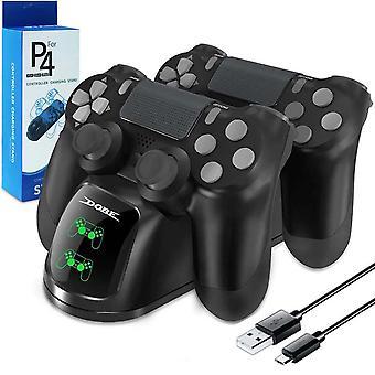 محطة إرساء مزدوجة أفقية لوحدات تحكم PS4 - أسود