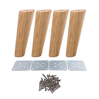 4 stuks 18cm hoogte hout schuine taps toelopende meubels voeten thee tafel benen