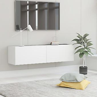 vidaXL armoire TV blanc 120×30×30 cm panneau de particules