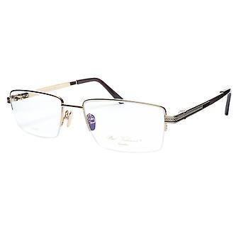 Paul Vosheront Eyeglasses Frame PV373 C1 Gold Plated Acetate Italy 57-19-145 35