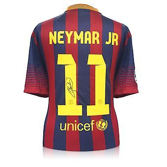 Neymar Jr Signed Barcelona 2013-14 Shirt
