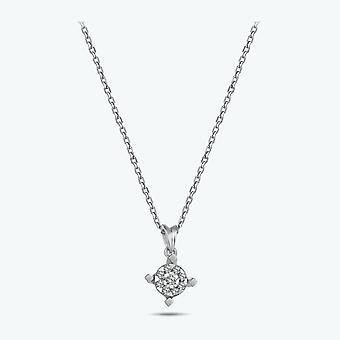 Boeket Solitaire Diamanten ketting