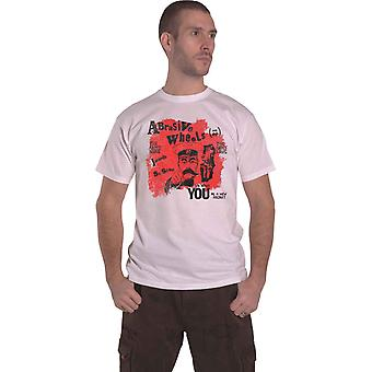 Abrasive Wheels T Shirt Army Song Band Logo new Official Mens White