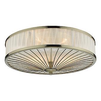 DAR OSLO Sylindrisk Spyle taklampe Antikk Messing, 3x E27
