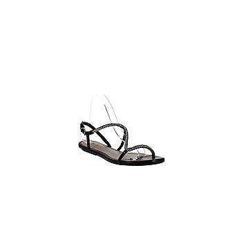 Schutz   Embellised Open Toe Flat Sandals