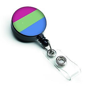 Carolines Treasures  CK8008BR Polisexual Pride Retractable Badge Reel