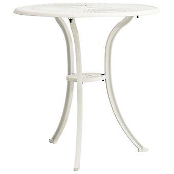 vidaXL Puutarhapöytä Valkoinen 62x62x65 cm Valettu alumiini