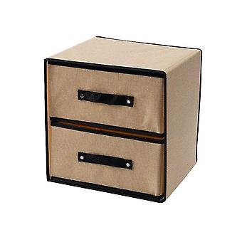 Two Layer Washable Fabric Storage Box Drawer Type Divider Closet|Foldable Storage Bags