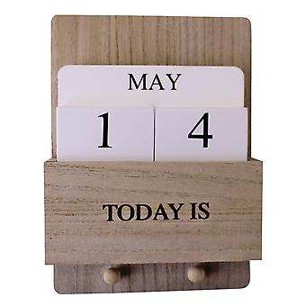 Wall Hanging Perpetual Calendar With Key Hooks