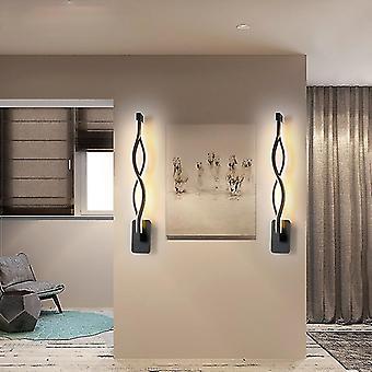 White light black modern minimalist wall lamps living room bedroom bedside led indoor black white lamp aisle lighting fa1341