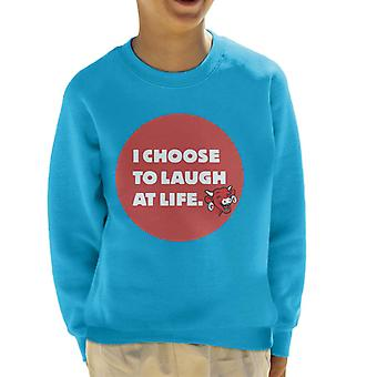 The Laughing Cow I Choose To Laugh At Life Kid's Sweatshirt