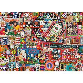 Schmidt Shelley Davies Vintage Board Games Jigsaw Puzzle (1000 Pieces)