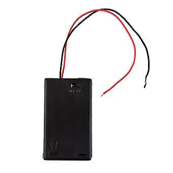 Πλαστικός κάτοχος κιβωτίων κάλυψης μπαταριών με το διακόπτη on/off για τις μπαταρίες 3 X Aaa