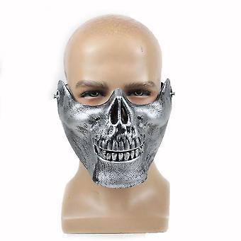 Halloween half face horror piłka impreza grymas plastikowa maska