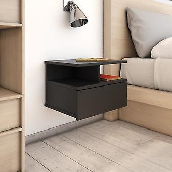 vidaXL tables de chevet suspendus 2 pcs. Noir 40 x 31 x 27 cm Panneau de particules