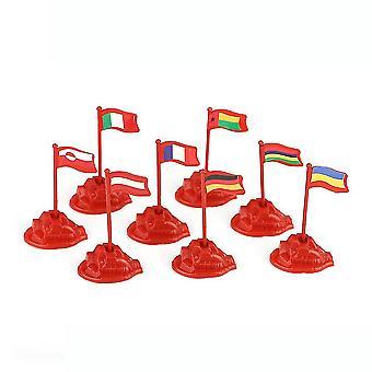8pcs דגלים לאומיים צרפת גרמניה סימולציה נתוני מלחמה