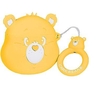 Cute Case for AirPod 2/1 (Yellow Rainbow Bear)(Yellow Rainbow Bear)