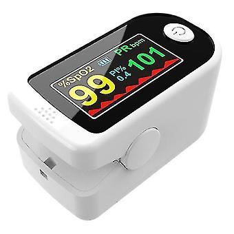Finger Clip Oximeter Pulse Oximetry Monitor Heart Rate Detection Fingertip Oximeter(White)