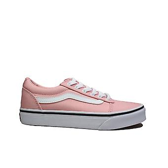 Vans MY Ward Powder Pink/White Canvas Girls Lace Up Sneakers