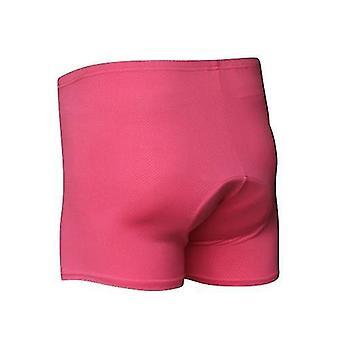 Велосипедные шорты трусы унисекс с высокой талией мужчины / женщины велоспорт нижнее белье гель 3d мягкие короткие брюки