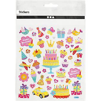 ÚLTIMOS POCOS - Brillante feliz cumpleaños hoja de pegatinas para niños manualidades | Pegatinas artesanales para niños